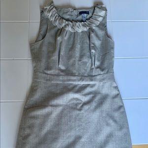 J Crew Leigh Wool Dress W/Ruffle Neckline